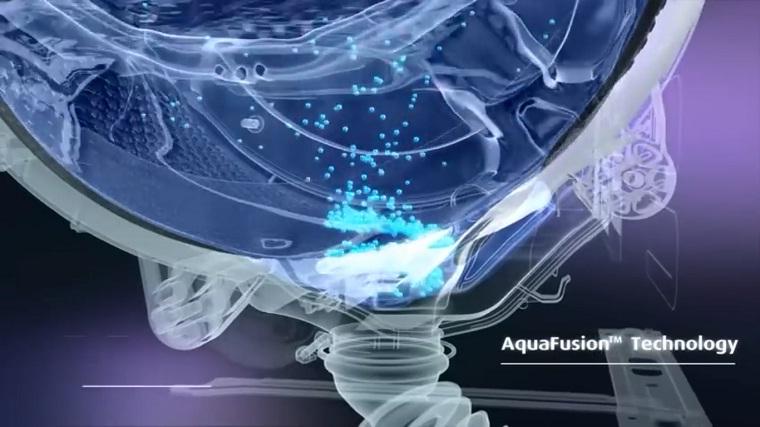 AquaFushion – Công nghệ giặt bằng sóng: