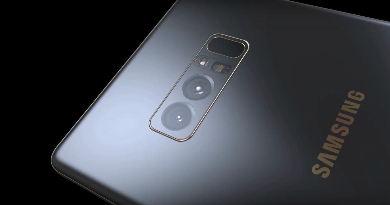 Cụm camera kép ở mặt lưng và cảm biến vân tay được làm phẳng rất tinh tế của Galaxy Note 8