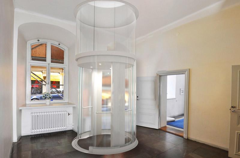 Thang máy tại Steve Jobs Theater là loại thang xoay