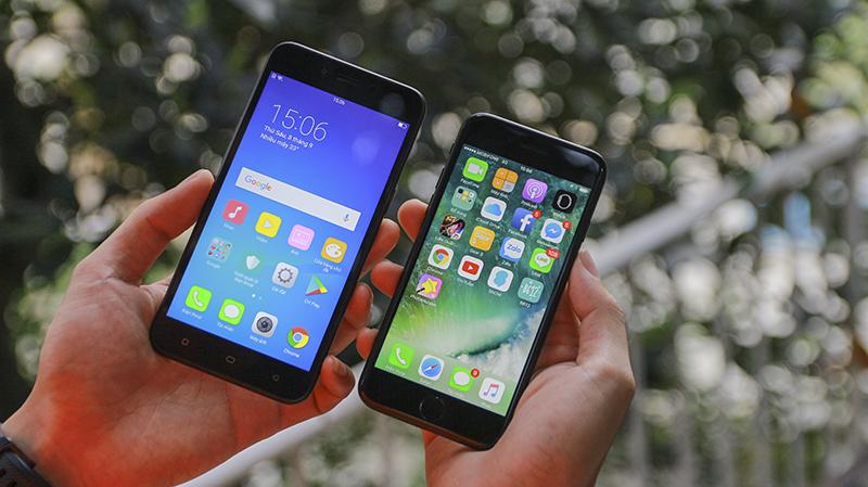 [Vui vẻ] So sánh thiết kế OPPO A71 và iPhone 7 giống nhau bao nhiêu phần trăm?