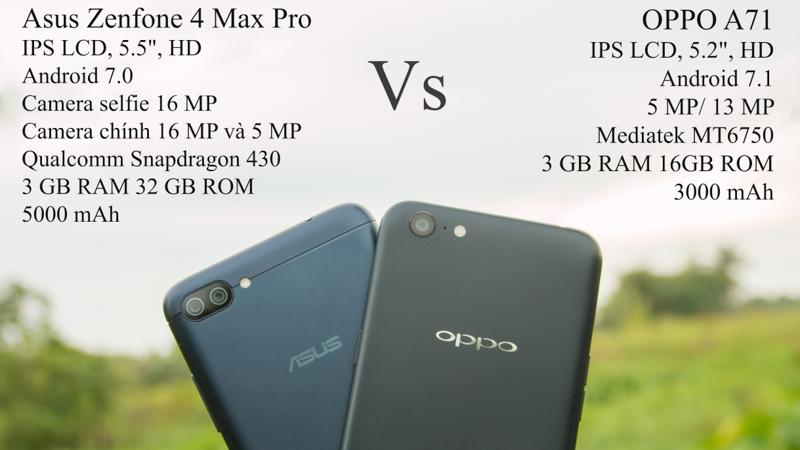 So sánh OPPO A71 và Zenfone 4 Max Pro: Tầm giá 5 triệu, đâu là tốt? - ảnh 5