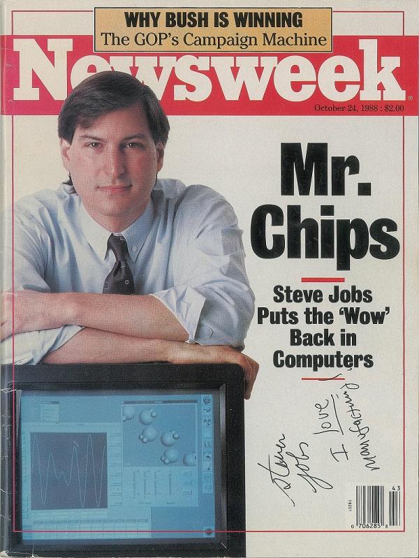 Cuốn tạp chí hiếm hoi có chữ ký của Steve Jobs từ năm 1988 đã bán được hơn 50.000 USD.