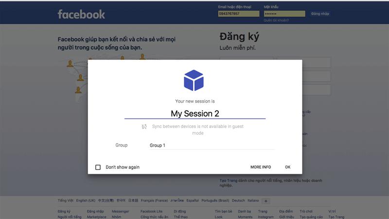 hướng dẫn đăng nhập nhiều tài khoản Facebook