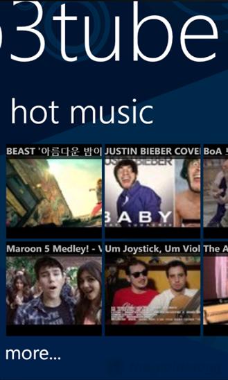 Ứng dụng MP3 Tube trên Lg nghe nhạc miễn phí