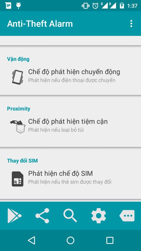 Báo động chống trộm điện thoại