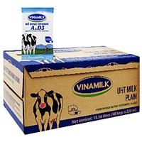 Sữa tiệt trùng Vinamilk Không đường 220ml (thùng 48 bịch)