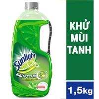 Nước rửa chén Sunlight hương Trà xanh và Chanh chai 1.5kg