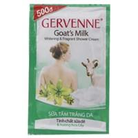Sữa tắm Gervenne tinh chất sữa dê hương hoa ly 45g (10 gói)
