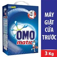 Bột giặt Omo Matic Sức mạnh 3X 3kg (máy giặt cửa trước)
