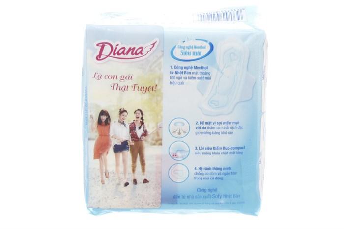 BVS Diana Sensi Cool Fresh Có cánh 23cm (8 miếng)
