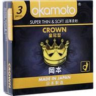 Bao cao su Okamoto Super Thin&Soft Crown 51mm (hộp 3 cái)