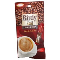Cà phê sữa 3 in 1 Birdy gói 17g (bịch 4 gói)