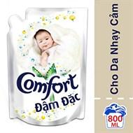 Nước xả Comfort đậm đặc cho Da nhạy cảm túi 800ml
