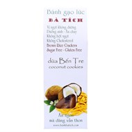 Bánh gạo lức Bà Tích dừa bến tre 100g