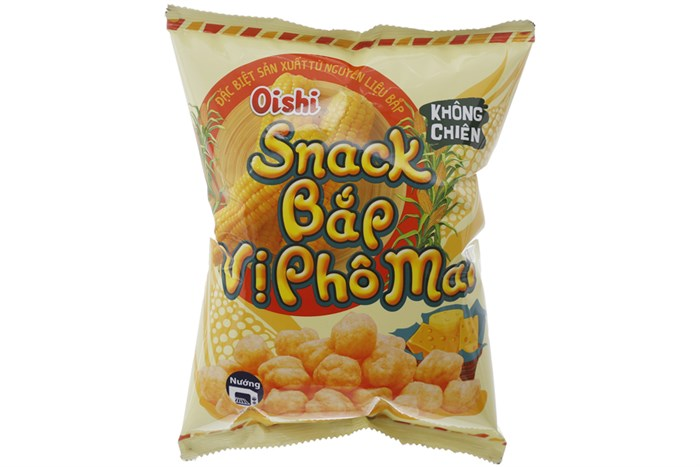 Snack bắp Oishi vị phô mai 45g