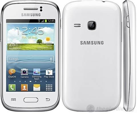 Thiết kế của Galaxy Young S6310 có nét hao hao với siêu phẩm Galaxy SIII