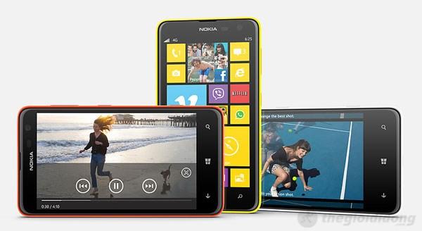 Lumia 625 sở hữu thiết kế thời trang, cao cấp