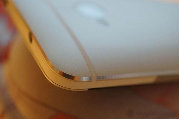 Đường vát trên HTC ONE được cắt bằng kim cương một cách tinh tế