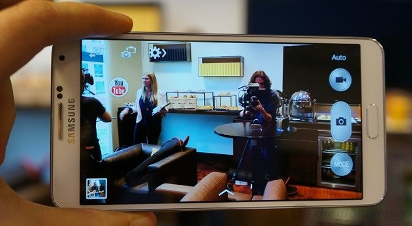 Giao diện Camera trên Galaxy Note 3