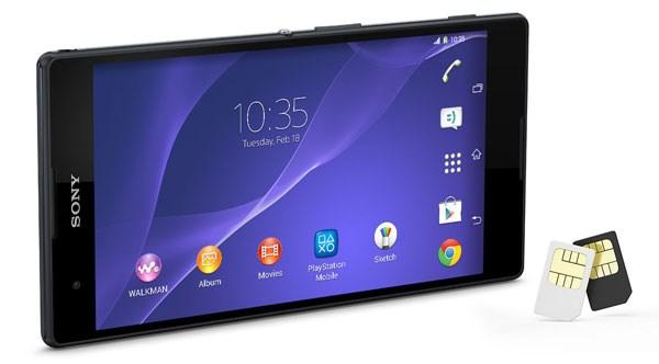 Sony Xperia T2 Ultra với phiên bản 2 SIM