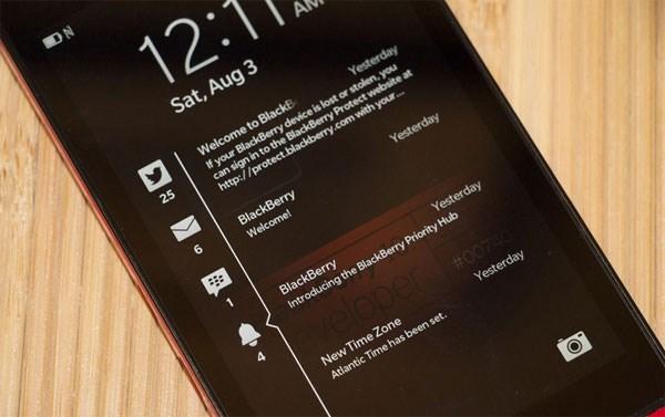 BlackBerry Z3 hệ điều hành BlackBerry 10