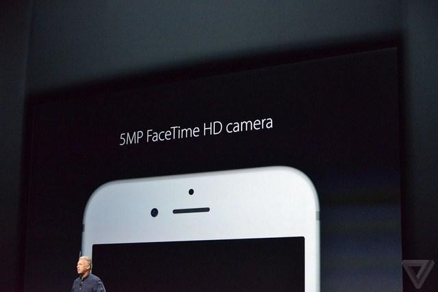 Camera trước được nâng cấp lên 5MP