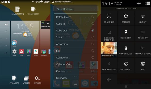 """OPPO Joy Plus R1011 có 3 nút cảm ứng rất nhạy quen thuộc với mọi người dùng: """"Tùy chọn, Home, Quay về"""""""