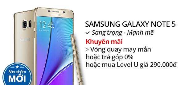 Điện thoại di động Samsung Galaxy Note 5