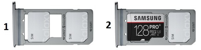 Nếu bộ nhớ trong 32 GB vẫn ít, bạn vẫn có thể lựa chọn mở rộng thẻ nhớ lên đến 128 GB, tùy từng phiên bản của từng quốc gia mà máy sẽ hỗ trợ 2 sim hay 1 sim