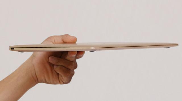 Độ mỏng đáng kinh ngạc cho một chiếc laptop