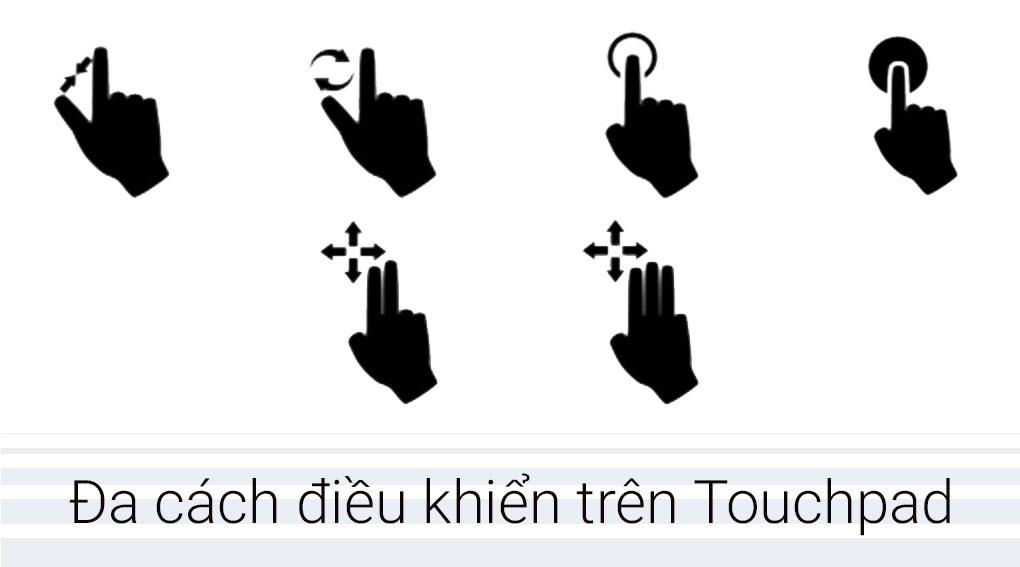 Touchpad thông minh, nhiều cách điều khiển