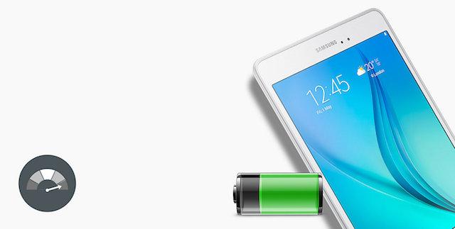 Samsung Galaxy Tab A 8.0 (2017) - Dung lượng pin được cải thiện