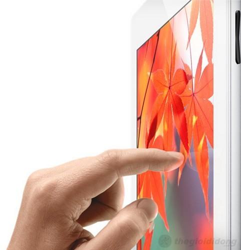 Màn hình của iPad 4 hiển thị rực rỡ và sắc nét ở mọi góc độ