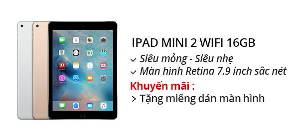 Máy tính bảng iPad Mini 2 Retina 16G/Wifi