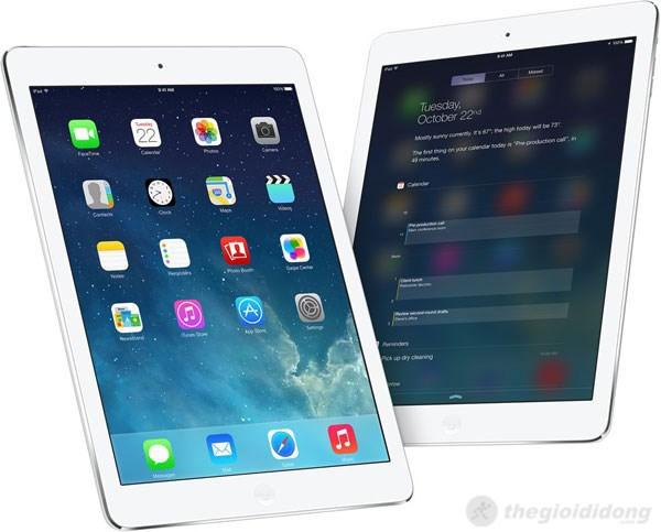iPad Air luôn tối ưu thao tác cho người dùng
