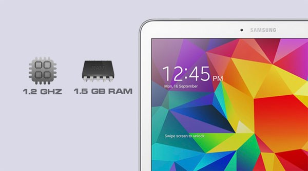 Samsung Galaxy Tab 4 10.1 chip 4 nhân 1,2ghz, ram 1,5gb