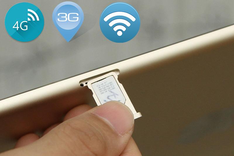 Với phiên bản Cellular bạn có 1 khe gắn sim để kết nối mạng 3G hay 4G với tốc độ nhanh hơn