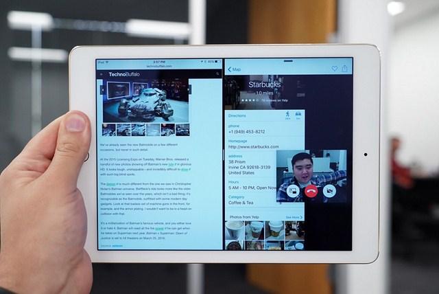 Tính năng đa nhiệm, chia đôi màn hình, video thoại không lạ với Android nhưng rất hữu dụng với iPad