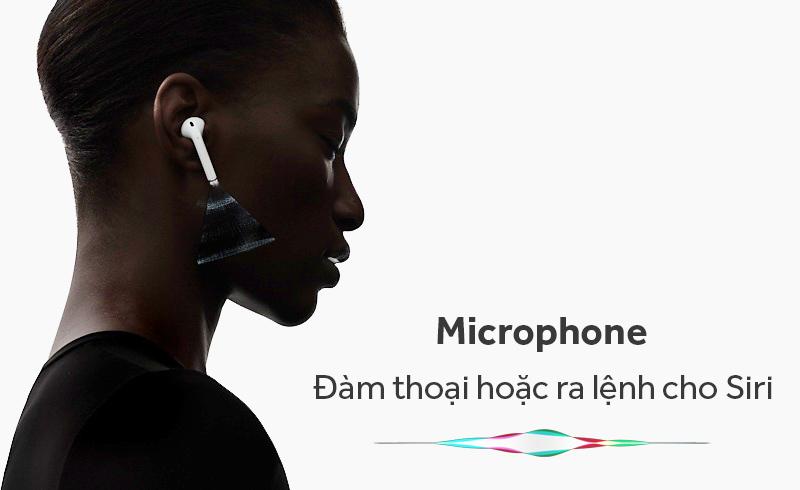 Tai nghe Bluetooth AirPods Apple MMEF2 - Mỗi bên tai nghe đều được trang bị microphone