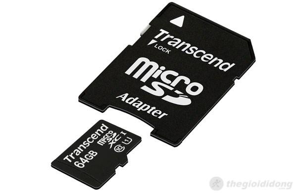 Thẻ nhớ và đầu đọc thẻ Adapter Transcend MicroSD