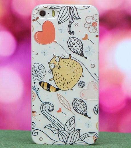 Ốp lưng - Flipcover điện thoại Ốp lưng iPhone 5 Nhựa dẻo mỏng Cover Kiss Mèo