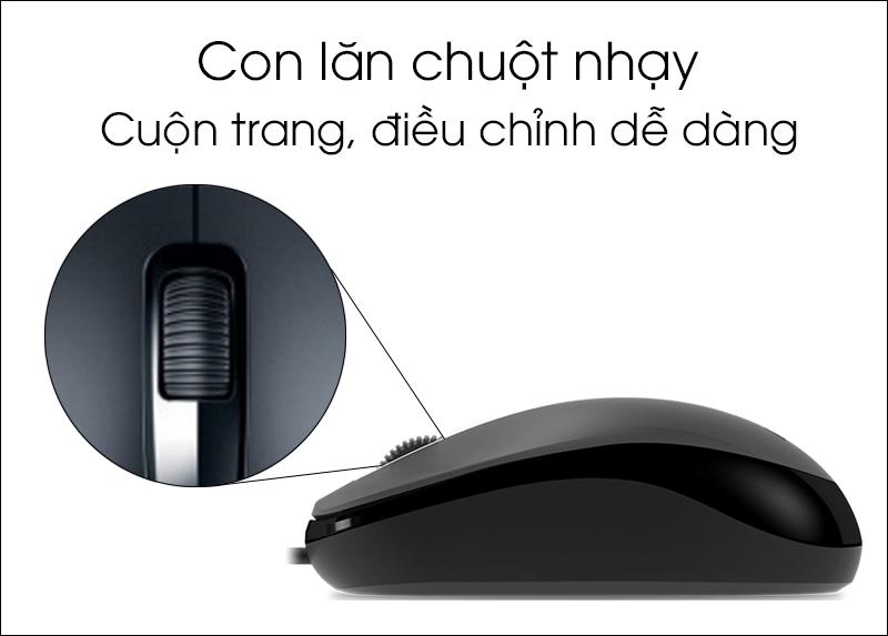 Chuột có dây Genius DX-125 - Con lăn chuột nhạy, click chuột chính xác