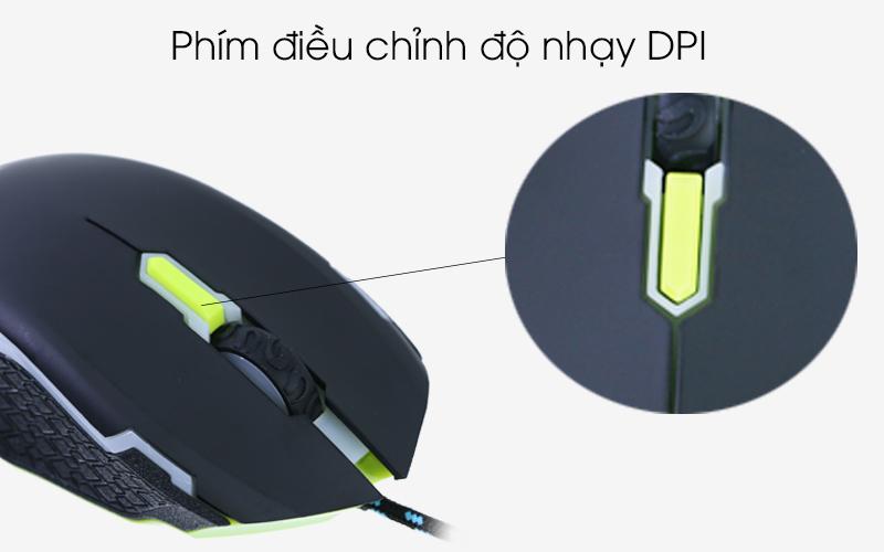 Chuột có dây Newmen N8000 -Nút điều chỉnh DPI hỗ trợ đắc lực cho game thủ chuyên nghiệp
