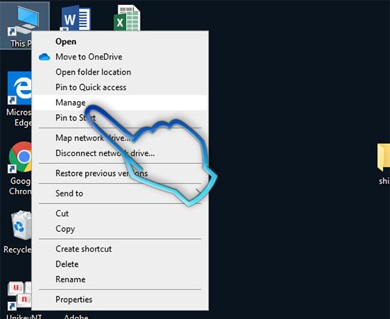 - Bước 1: Click chuột phải vào My Computer. Chọn Manage.