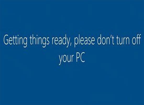 Bạn không được phép tắt máy tính trong khi thiết lập