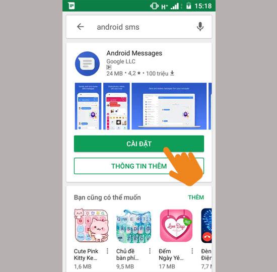 Tải về hoặc cập nhật Android SMS