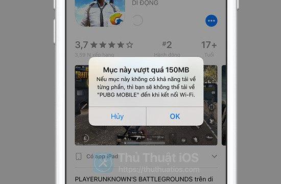Cách tải ứng dụng lớn hơn 150 MB bằng 4G trên iOS 13