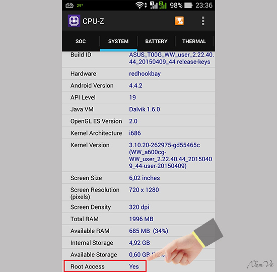 Cach Root May Asus Zenfone Chay Android KitKat Va Lollipop