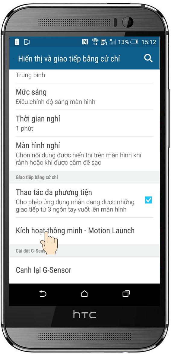 Chạm 2 lần để bật màn hình trên HTC One M9